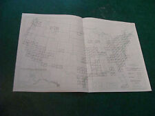 """Original Index to Topographic Mapping in UNITED STATES nov. 1955 aprox 11 x 17"""""""