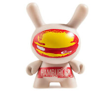 """Hamburger Case Exclusive 3"""" Dunny by Andy Worhol x Kidrobot Brand New In Box"""