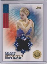 RARE 2014 TOPPS OLYMPIC GRACIE GOLD ~ GOLD RELIC CARD ~ 24/25 ~ FIGURE SKATING