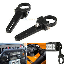 "2x 1.5"" Offroad Bull/Roll Bar Tube Mount Bracket Clamp For Led Light Bar UTV ATV"