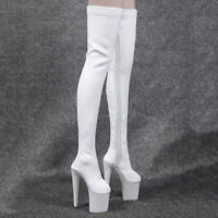 """1/6 Zipper Boots for Female 12"""" Action Figure Dragon   CG Girls White"""