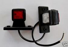 2 Trailer Mudguard Towing Red White LED Side Marker Lights 12V/24V Truck Camper