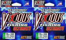 (Lot Of 2) Vicious Ultimate Fishing Line 330Yd Lo-Vis Green 10Lb
