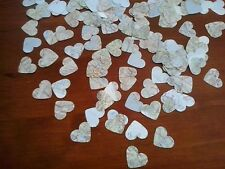 vintage paper 200 hearts from old atlas maps confetti party wedding bon voyage
