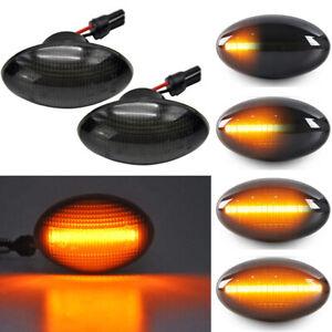 For Mini Cooper R50 R52 R53 02- Dynamic LED Side Marker Fender Blinker Lights 2X