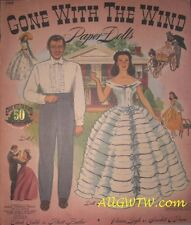 Gone With the Wind 1990 Pink Reprint Paper Dolls Booklet