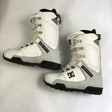 DC The Park Snowboard Boot Men's Sz 7.5 / Women's 9 White 2008 Drop In Mtn Lab