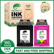 2pk Printer Ink Cartridge for HP 65XL DeskJet 2622 2652 ENVY 5010 5012 5014 5032