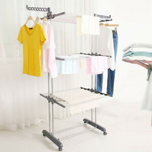 Foldable Extra Large 3 Tier Indoor Outdoor Clothes Airer Laundry Dryer Rack