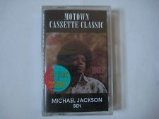 Michael Jackson- Ben Cassette SEALED! Motown Cassette Classic R&B