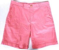 Vineyard Vines Men's Casual Breaker Shorts Size 35 Solid Coral Flat Front