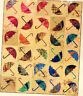 Dancing Umbrella - fun applique and pieced quilt PATTERN - Laundry Basket Quilts