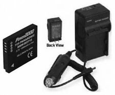 Battery + Charger for Panasonic DMC-TS2Y DMCTS3R DMCTS3S DMCF2 DMCF2K DMCF2P