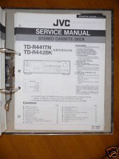 MANUAL DE SERVICIO JVC td-r441tn / r442bk Platina de cassette, original