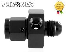 "AN -6 (AN6) Male to Female Twin 1/8"" NPT Gauge/Sensor Side Port Adapter In Black"