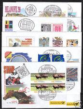 Messebelege (10) der Dt. Post (offiziell) 1999 kpl.