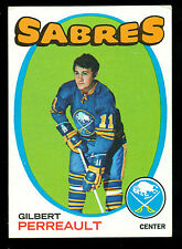 1971 72 TOPPS HOCKEY 60 GIL PERREAULT EX-NM HOF BUFFALO SABRES FREE SHIP TO USA