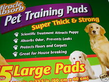 75 Miracle Absorb Pet Training Pads Super Thick Strong Scientific Attract Puppy