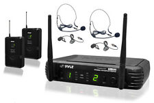 NEW Pyle PDWM3400 Professional UHF Mic System + 2 Transmitters 2 Microphones