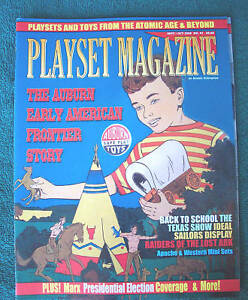 Playset magazine #41 Auburn Early American frontier + Marx Presidents