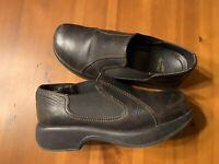 Dansko Womens Size 39 US 9 Dark Brown Leather Slip On Comfort Shoes