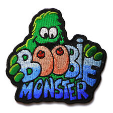 Embroidered Boobie Monster Sew or Iron on Patch Biker Patch