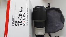 Canon EF 70-200mm f/4l IS II USM. muy poco usado! en la caja original