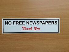 No hay etiqueta engomada/cartel De Periódicos Gratis