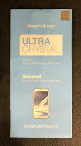 35 - 2 Pack Ultra Crystal Galaxy Note 2 Screen Protector New Clear Hard surface