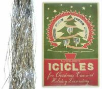 NWT SILVER-BRITE TINSEL ICICLES CHRISTMAS TREE AND HOLIDAY DECORATING