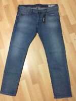 MEN Diesel BELTHER LYOCELL STRETCH DENIM 084RB BLUE TAPERED W36 L32 H7 RRP£150