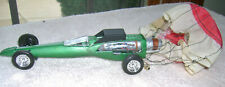 JET DRAGSTER WITH PARACHUTE CUSTOM BUILT ONE OF A KIND PLASTIC MODEL CAR 1/24