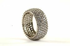 NWOT SHINY CZ MICRO PAVE BAND COCKTAIL RING 925 STERLING RG 2302-5