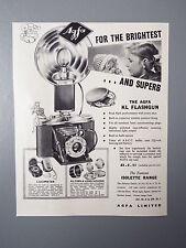 R&L Ex-Mag Advertisement: Agfa KL Flashgun for Isolette Cameras 1950's