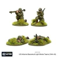 Bolt Action Us Airborne Bazooka And Light Mortar Teams (1944-45) Blister - Metal