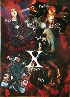 X Japan official Japanese poster jrock jpop Hide Toshi  Yoshiki Heath Pata