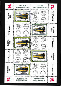 Ö 2003 Tag der Briefmarke - Kleinbogen -  komplette Ausgabe sauber Gestempelt
