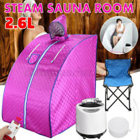 2.6L Portable Steam Sauna SPA Tent Slimming Loss Weight Detox Therapy+Chair Home