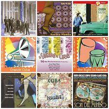 9 CUBAN CDs LOT music of Cuba/Havana/mambo/Perez Prado,Pio Leyva,Compay Segundo+