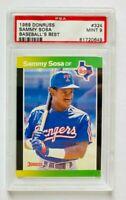 1989 Donruss Sammy Sosa RC #324, Baseball's Best PSA 9 Mint, Rangers Rookie!