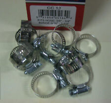 "STAINLESS STEEL BAND HOSE CLAMP 1/2""-1-1/4"" AMGAUGE #12 CLAMPS 10 PIECES"