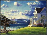 Seaside Cottage -Chart Counted Cross Stitch Pattern Needlework Xstitch DIY Craft