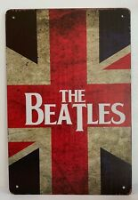 Tin Sign The Beatles England United Kingdom Flag Retro Metal Signs Plaques Decor