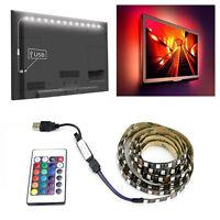 Fashion 5V 5050 RGB LED Strip Light Colour Changing USB TV PC Back Mood Lighting