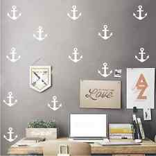 Anchors Confetti Wall Stickers, anchor, art, decal, nautical, black, gold