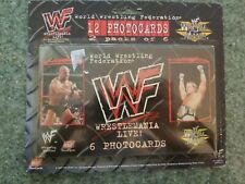 12 Pack of WWF WWE Wrestlemania Live Photocard Blister Pack g