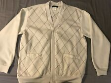 Haband Men's XL Button Up Polyester Cardigan Ivory excellent!