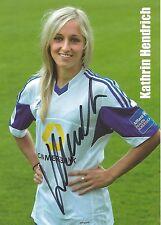 Autogramm Kathrin Hendrich Nationalspielerin Frauen Fußball  FFC Frankfurt Karte