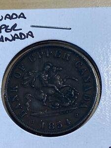 1854 Canada Bank of Upper Canada Half Penny!!