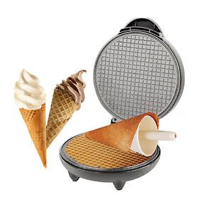 Ice Cream Cone Machine,Ice Cream Waffle Cone Maker,Pan Waffle Maker,Egg Roll Mac